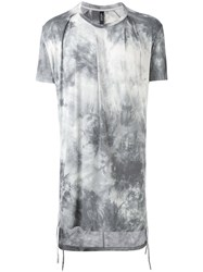 Tom Rebl Gradient Printed Long T Shirt Men Spandex Elastane Viscose M Grey
