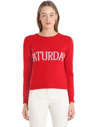 Alberta Ferretti Saturday Wool And Cashmere Knit Sweater