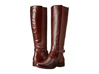 Steven Sydnee Wide Calf Cognac Leather Women's Dress Zip Boots Brown