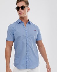 Threadbare Embroidered Shades Short Sleeve Shirt In Blue
