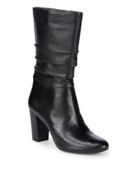 Anne Klein Nyssa Slouchy Leather Boots Black