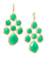 Monica Vinader Siren Green Onyx Chandelier Earrings