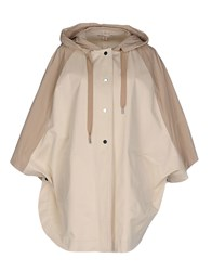 Stefanel Coats And Jackets Cloaks Women Beige