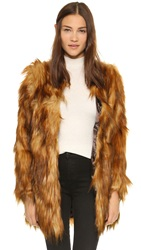 Unreal Fur Wanderlust Coat Ginger