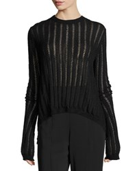A.L.C. Miguel Semisheer Laced Sweater Black