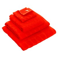 Orla Kiely Sculpted Stem Towel Tomato Bath Sheet