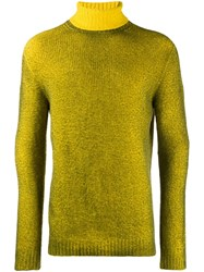 Avant Toi Turtle Neck Sweatshirt Yellow