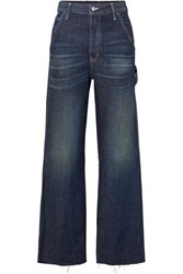 Maison Martin Margiela Mm6 Cropped High Rise Wide Leg Jeans Dark Denim
