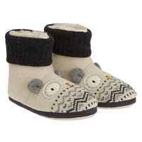 Aroma Home Knitted Owl Slipper Boots