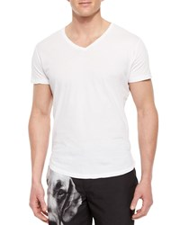 Orlebar Brown Bobby V Neck Tee White