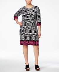 Inc International Concepts Plus Size Geo Print Shift Dress Only At Macy's Box Geo