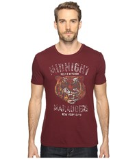 Lucky Brand Midnight Marauders Graphic Tee Port Royale Men's Clothing Burgundy