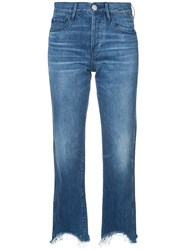 3X1 Austin Cropped Jeans Cotton Blue
