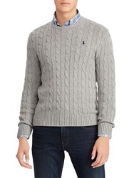 Ralph Lauren Polo Long Sleeve Cable Knit Jumper Fawn Grey Heather