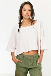 Truly Madly Deeply High Low Circle Tee Ivory
