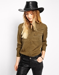 Liquorish Leather Stetson Hat Black