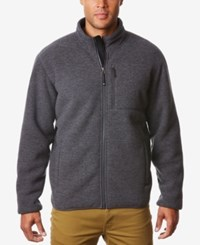 32 Degrees Men's Full Zip Fleece Jacket Dk Grey He