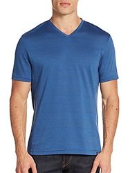 Vince Camuto Tonal Stripe Tee Federal Blue