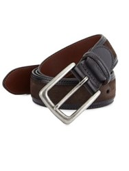 Saks Fifth Avenue Collection Leather Edge Belt Brown Black