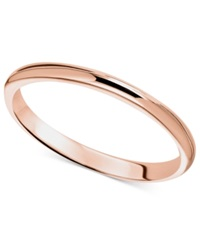 Macy's 14K Rose Gold Ring 2Mm Wedding Band