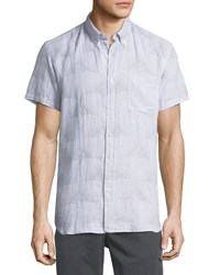 Billy Reid Tuscumbia Short Sleeve Sport Shirt Light Blue