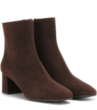 Prada Suede Ankle Boots Brown