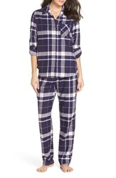 Make Model Flannel Girlfriend Pajamas Navy Dusk Elsie Plaid