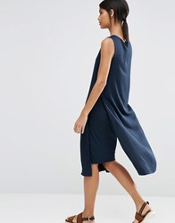 Selected Julia Dress With Side Split Dark Sapphire Navy