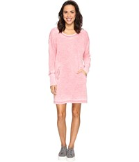Allen Allen Long Sleeve Dolman Two Pocket Dress Begonia Women's Dress Pink