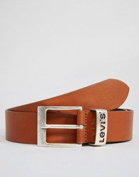 Levi's Leather Belt With Logo Keeper Tan Tan Brown
