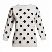 Rumour London Charlotte Polka Dot Jumper Black White