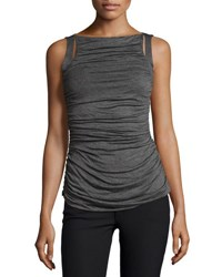 Bailey 44 Ruched Front Sleeveless Top Mercury