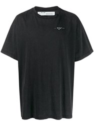 Off White Embroidered Arrows Scribble T Shirt Black