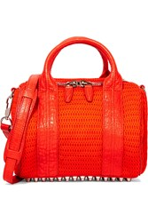 Alexander Wang Rockie Textured Leather And Mesh Shoulder Bag