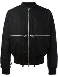Stampd Time And 1 World Bomber Jacket Men Cotton Nylon Polyester Wool M Black