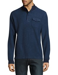 Lucky Brand Ribbed Cotton Sweater Navy