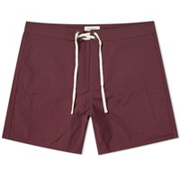 Saturdays Surf Nyc Colin Solid Boardshort Burgundy