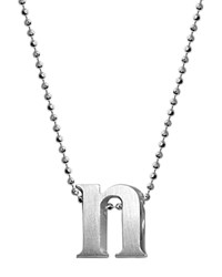 Alex Woo Sterling Silver Little Letter A Necklace 16 Silver N