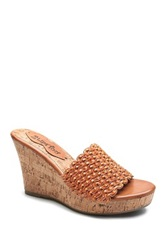 Two Lips Too Mayan Wedge Sandal Red