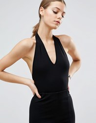 Asos Body With Halter Neck Black