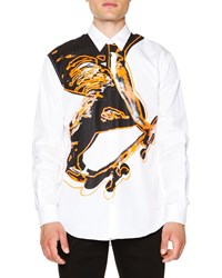 Dsquared2 Skater Print Long Sleeve Shirt White