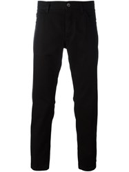 Dolce And Gabbana Crown Bee Embroidered Jeans Black