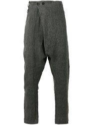Lost And Found Ria Dunn Folded Front Drop Crotch Trousers Grey