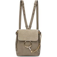 Chloe Grey Small Faye Backpack