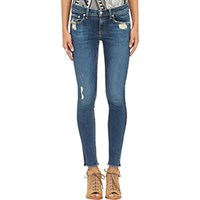 Rag And Bone Women's Distressed Skinny Jeans Blue