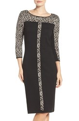 Gabby Skye Women's Animal Print Sweater Dress