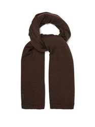 Rick Owens 84 Cashmere Scarf Brown