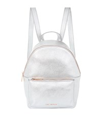 Ted Baker Leather Pearen Backpack Silver