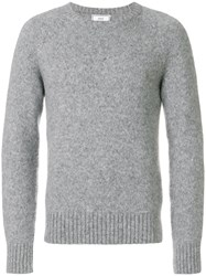 Ami Alexandre Mattiussi Raglan Sleeves Crewneck Sweater Grey
