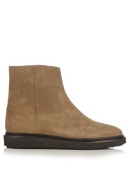 Isabel Marant Connor Suede Ankle Boots Khaki